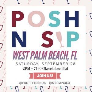 Join us!! Posh N Sip West Palm Beach, FL 🎉